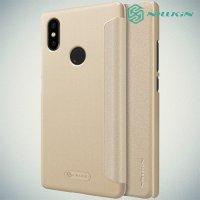 Nillkin Sparkle флип чехол книжка для Xiaomi Mi 8 SE - Золотой