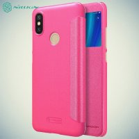 Nillkin Sparkle флип чехол книжка для Xiaomi Mi A2 - Розовый