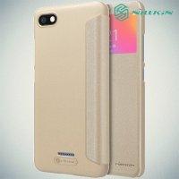 Nillkin Sparkle флип чехол книжка для Xiaomi Redmi 6a - Золотой