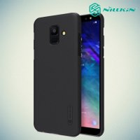 NILLKIN Super Frosted Shield Клип кейс накладка для Samsung Galaxy A6 2018 SM-A600F - Черный