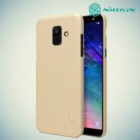 NILLKIN Super Frosted Shield Клип кейс накладка для Samsung Galaxy A6 2018 SM-A600F - Золотой