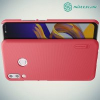 NILLKIN Super Frosted Shield Клип кейс накладка для Asus Zenfone Max M2 ZB633KL - Красный