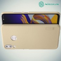NILLKIN Super Frosted Shield Клип кейс накладка для Asus Zenfone Max M2 ZB633KL - Золотой