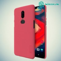 NILLKIN Super Frosted Shield Клип кейс накладка для OnePlus 6 - Красный