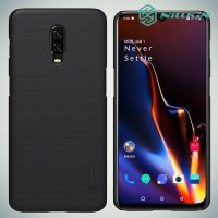 NILLKIN Super Frosted Shield Клип кейс накладка для OnePlus 6T - Черный