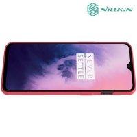 NILLKIN Super Frosted Shield Клип кейс накладка для OnePlus 7 - Красный