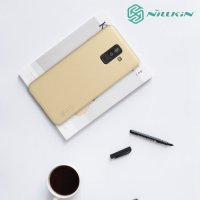 NILLKIN Super Frosted Shield Клип кейс накладка для Samsung Galaxy J8 2018 - Золотой