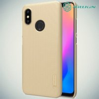 NILLKIN Super Frosted Shield Клип кейс накладка для Xiaomi Mi 8 - Золотой