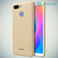NILLKIN Super Frosted Shield Клип кейс накладка для Xiaomi Redmi 6 - Золотой