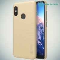NILLKIN Super Frosted Shield Клип кейс накладка для Xiaomi Redmi 6 Pro / Mi A2 Lite - Золотой