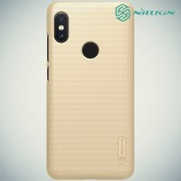 NILLKIN Super Frosted Shield Клип кейс накладка для Xiaomi Redmi Note 6 / Note 6 Pro - Золотой