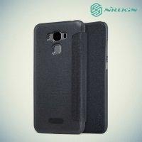 Nillkin ультра тонкий чехол книжка для Asus ZenFone 3 Max ZC553KL - Sparkle Case Серый