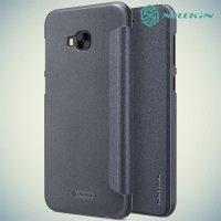 Nillkin ультра тонкий чехол книжка для Asus Zenfone 4 Selfie Pro ZD552KL - Sparkle Case Серый