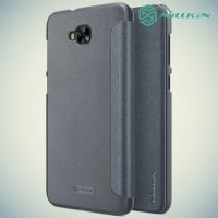 Nillkin ультра тонкий чехол книжка для Asus Zenfone 4 Selfie ZD553KL / Live ZB553KL - Sparkle Case Серый