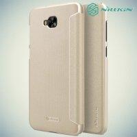 Nillkin ультра тонкий чехол книжка для Asus Zenfone 4 Selfie ZD553KL / Live ZB553KL - Sparkle Case Золотой