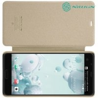 Nillkin ультра тонкий чехол книжка для HTC U Ultra - Sparkle Case Золотой