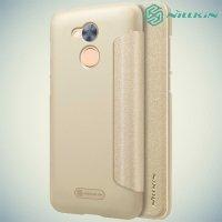 Nillkin ультра тонкий чехол книжка для Huawei Honor 6A - Sparkle Case Золотой
