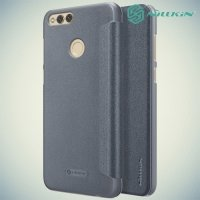 Nillkin ультра тонкий чехол книжка для Huawei Honor 7X - Sparkle Case Серый
