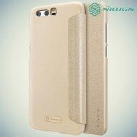 Nillkin ультра тонкий чехол книжка для Huawei Honor 9 - Sparkle Case Золотой