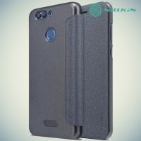 Nillkin ультра тонкий чехол книжка для Huawei nova 2 Plus - Sparkle Case Серый