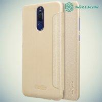 Nillkin ультра тонкий чехол книжка для Huawei Nova 2i - Sparkle Case Золотой