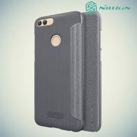Nillkin ультра тонкий чехол книжка для Huawei P Smart - Sparkle Case Серый