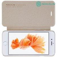 Nillkin ультра тонкий чехол книжка для iPhone 8/7 - Sparkle Case Золотой