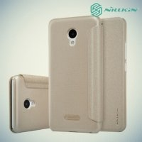 Nillkin ультра тонкий чехол книжка для Meizu m5 - Sparkle Case Золотой