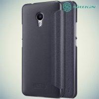Nillkin ультра тонкий чехол книжка для Meizu M5s - Sparkle Case Серый