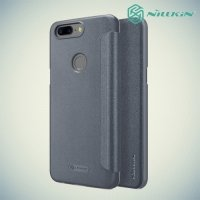 Nillkin ультра тонкий чехол книжка для OnePlus 5T - Sparkle Case Серый