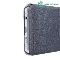 Nillkin ультра тонкий чехол книжка для Samsung Galaxy A3 2016 - Sparkle Case Серый