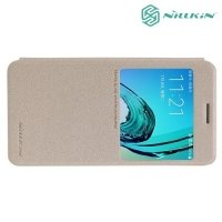 Nillkin ультра тонкий чехол книжка для Samsung Galaxy A3 2016 - Sparkle Case Золотой