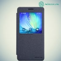 Nillkin ультра тонкий чехол книжка для Samsung Galaxy A7 - Sparkle Case Черный