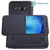 Nillkin ультра тонкий чехол книжка для Samsung Galaxy A8 - Sparkle Case Серый