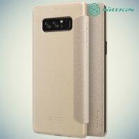 Nillkin ультра тонкий чехол книжка для Samsung Galaxy Note 8 - Sparkle Case Золотой