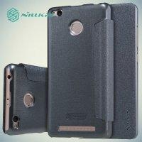 Nillkin ультра тонкий чехол книжка для Xiaomi Redmi 3 Pro / 3s - Sparkle Case Серый