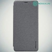 Nillkin ультра тонкий чехол книжка для Xiaomi Redmi 5 Plus - Sparkle Case Серый