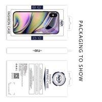 NXE Glass Case Силиконовый Стеклянный чехол для iPhone XS Max с рисунком Волна
