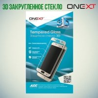 OneXT Изогнутое 3D защитное стекло для Samsung Galaxy S7 черное