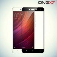 OneXT Защитное стекло для Xiaomi Redmi Note 4 на весь экран - Черный