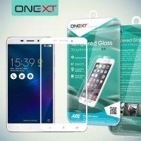 OneXT Защитное стекло для Asus ZenFone 3 Laser ZC551KL на весь экран - Белый
