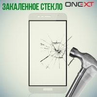 OneXT Защитное стекло для Asus ZenFone 3 Max ZC520TL на весь экран - Белый
