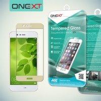 OneXT Защитное стекло для Huawei Nova 2 на весь экран - Золотой