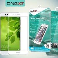 OneXT Защитное стекло для Huawei nova 2 Plus на весь экран - Белый