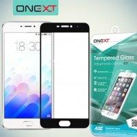 OneXT Защитное стекло для Meizu M5 Note на весь экран - Черный