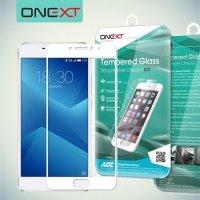 OneXT Защитное стекло для Meizu M5 Note на весь экран - Белый