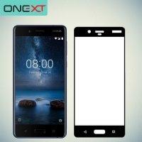 OneXT Защитное стекло для Nokia 8 на весь экран - Черный