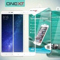 OneXT Защитное стекло для Xiaomi Mi Max 2 на весь экран - Белый