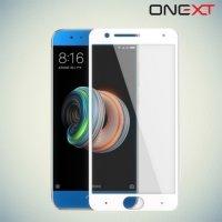 OneXT Защитное стекло для Xiaomi Mi Note 3 на весь экран - Белый