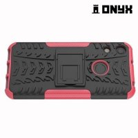 ONYX Противоударный бронированный чехол для Huawei Honor 8A - Розовый